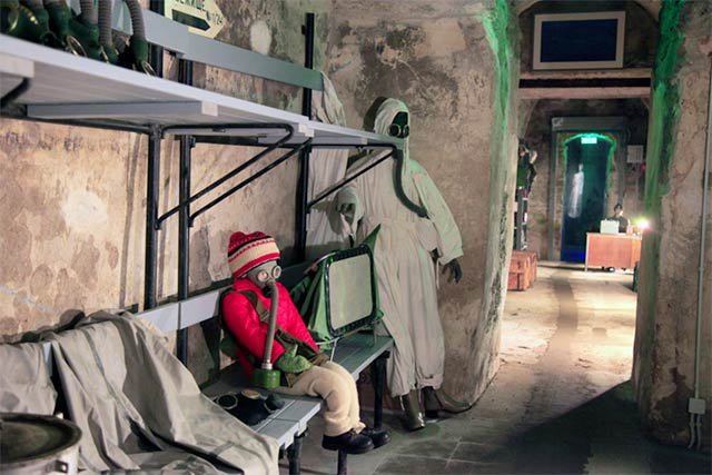 Bastionien tunneleissa voi tutustua myös Neuvostoliiton aikaisiin mielenkiintoisiin vaiheisiin.