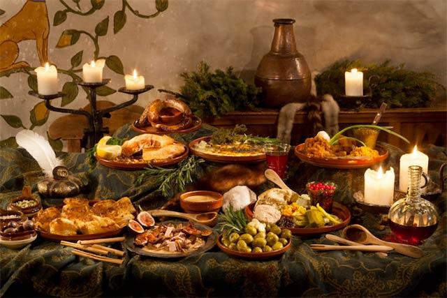 Olde Hansa ravintolan ruokia