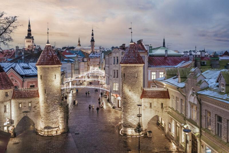 Tallinnan Viru-katu marraskuussa 2020