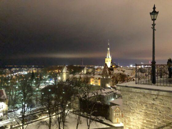 Näkymä Tallinnan vanhaankaupunkiin