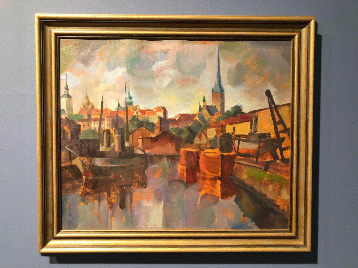 Tallinna-maisema Maisemien matkassa -näyttelystä