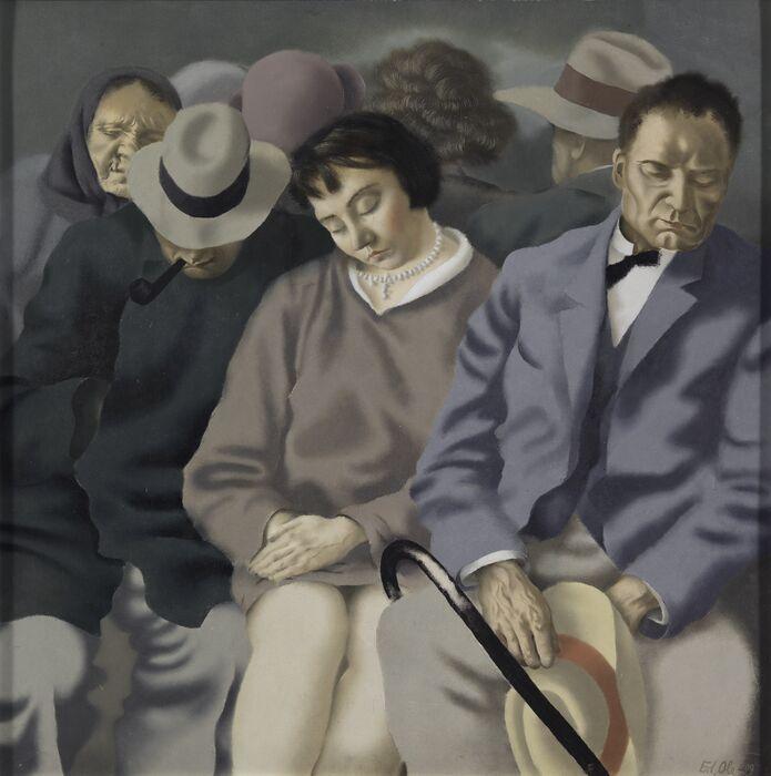 Eduard Olen maalaus Reisijad