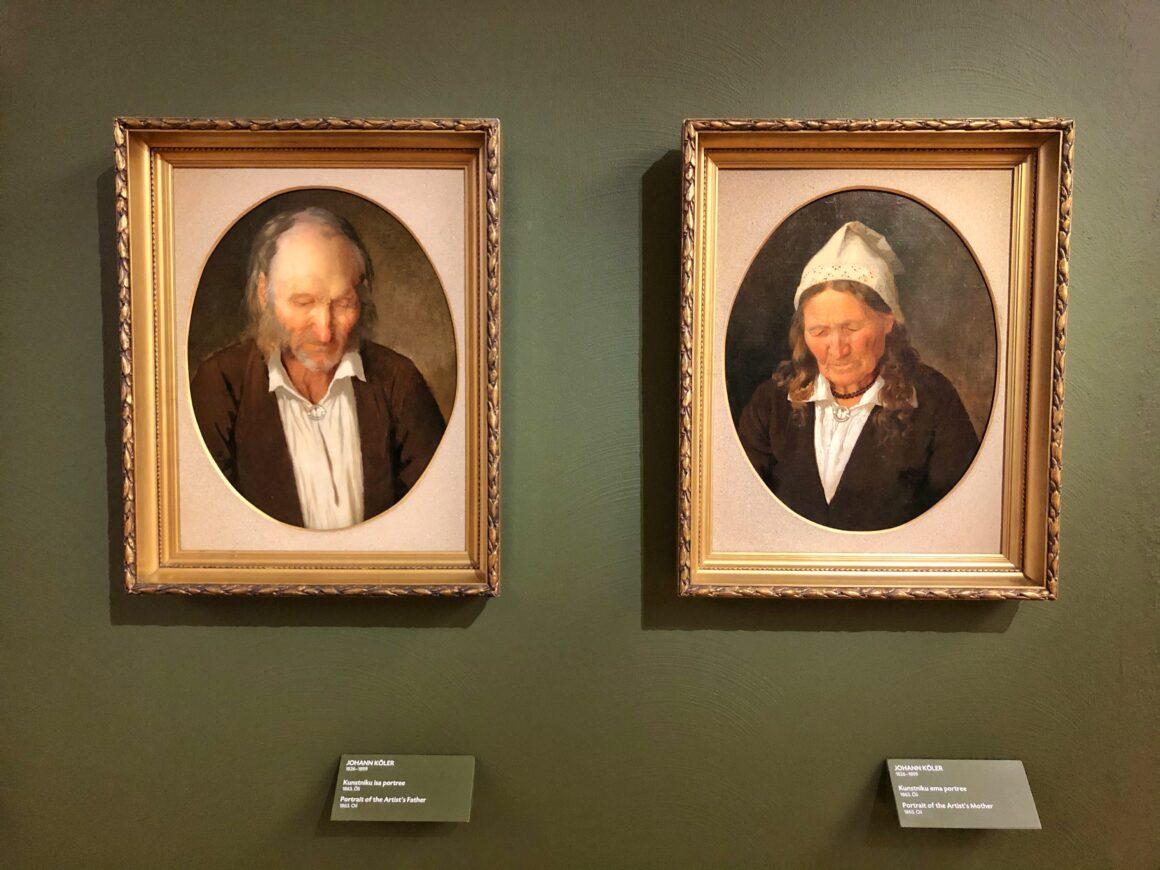 Johann Kölerin muotokuvat vanhemmistaan