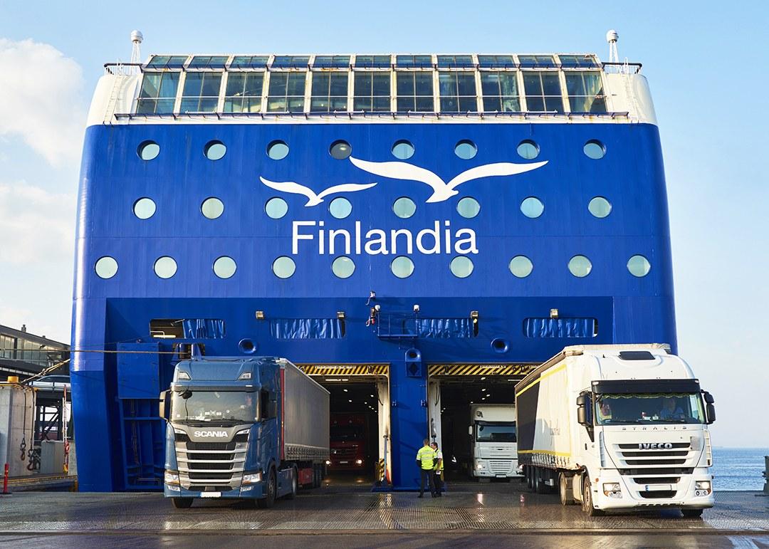 MS Finlandia Helsingin satamassa