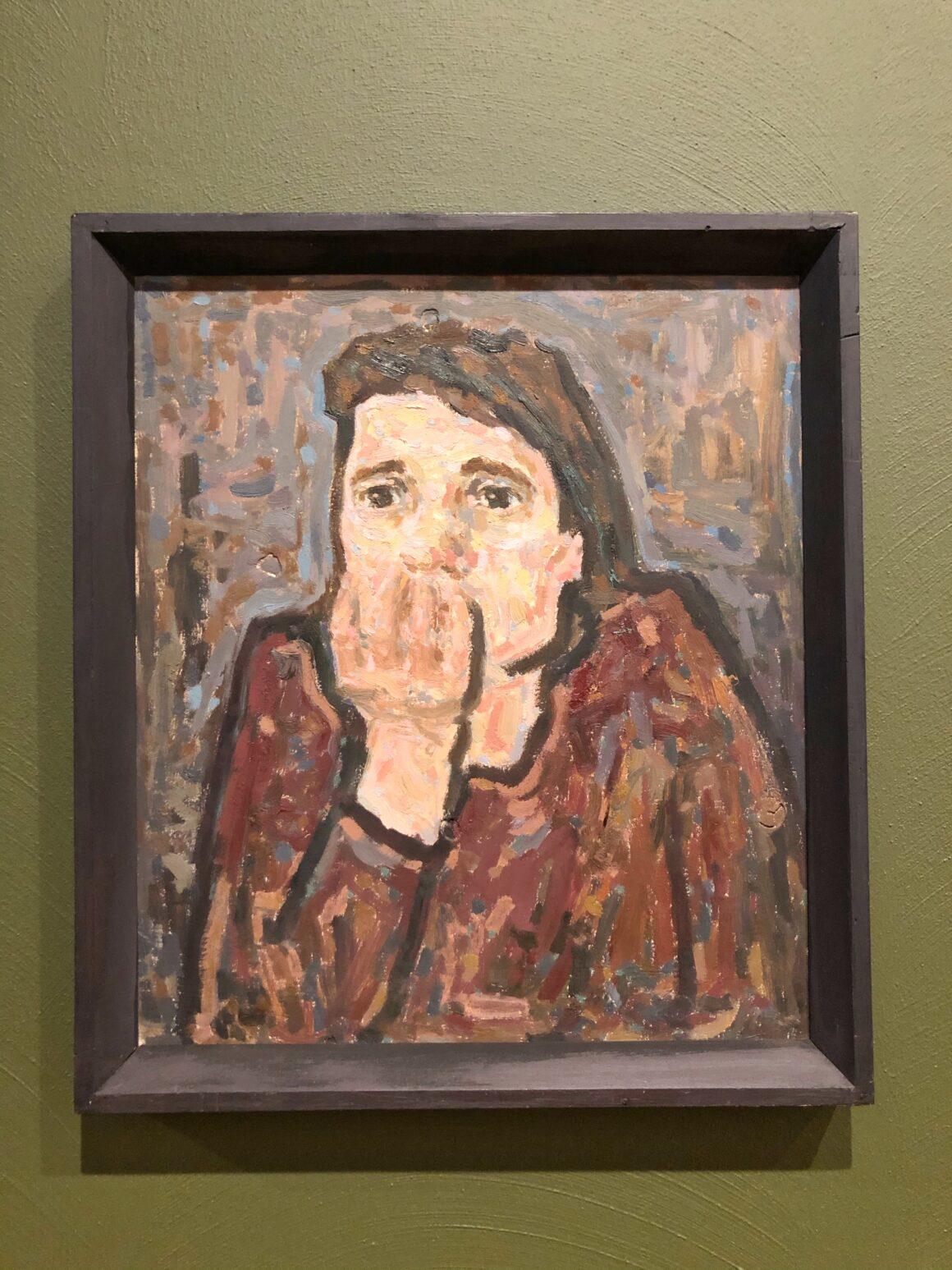 Olga Terrin maalaus Hirm
