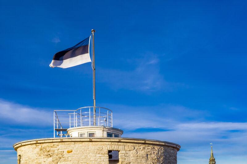 Viron lippu Pikk Hermannin tornissa