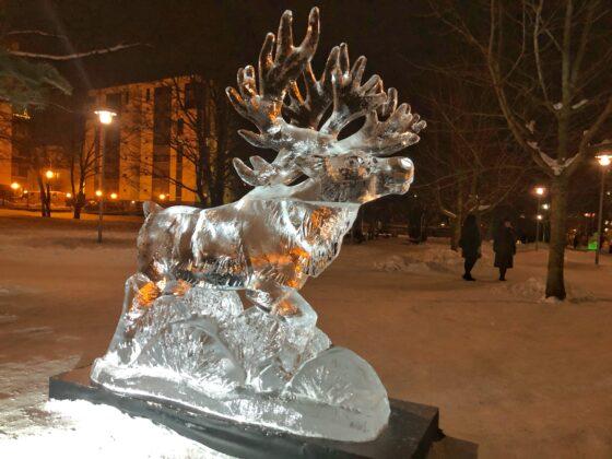 Jääveistosnäyttely Tallinnassa